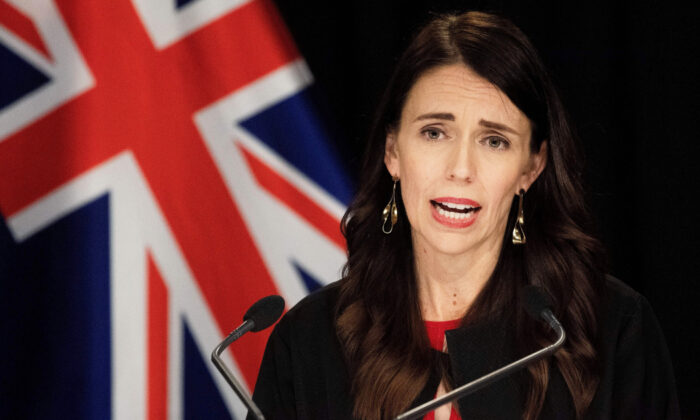 New Zealand Prime Minister Jacinda Ardern speaks to media on the White Island volcanic eruption during her post-cabinet press conference at Parliament in Wellington on Dec. 16, 2019. (Marty Melville/AFP via Getty Images)