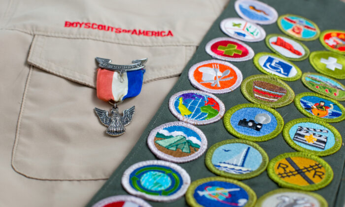 A Boys Scouts of America uniform and badges in a stock photo. (Shutterstock)