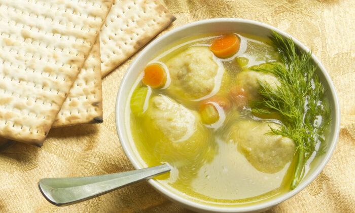 Matzoh ball soup. (Shutterstock)