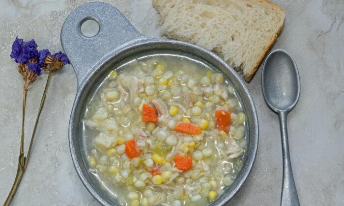 Amish chicken corn soup. (Shutterstock)