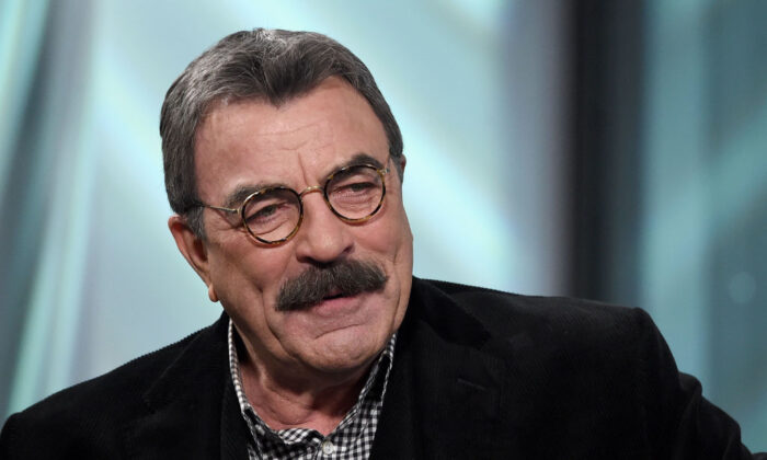 """NEW YORK, NY - SEPTEMBER 29:  Tom Selleck visits the Build Series to discuss his show """"Blue Bloods at Build Studio on September 29, 2017 in New York City.  (Photo by Jamie McCarthy/Getty Images)"""