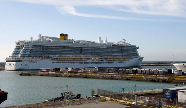 The Costa Smeralda cruise ship