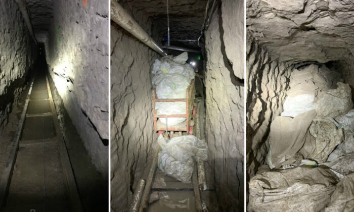 U.S. Border Patrol San Diego Sector and partners discovered what appears to be the longest illicit cross-border tunnel known to exist along the Southwest border, designed to move large packs of drugs, according to a CBP announcement on Jan. 29, 2020. (U.S. Customs and Border Protection)