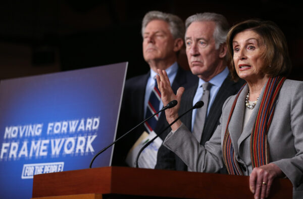 Nancy Pelosi Holds Press Conference Unveiling House Democrats' New Infrastructure Framework