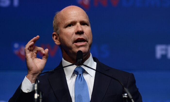 Former Rep. John Delaney (D-Md.) speaks at an event in Las Vegas, Nevada on Nov. 17, 2019. (Bridget Bennett/AFP via Getty Images)