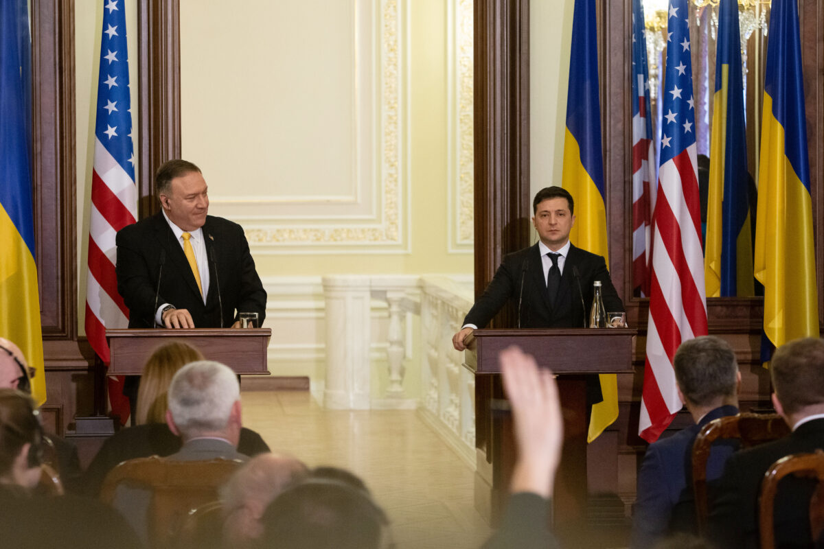 Secretary of State Pompeo tells Ukraine that Trump remains its fiercest supporter