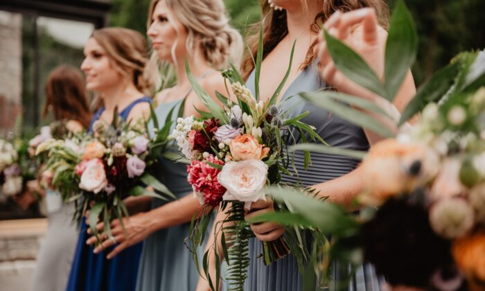 A file photo of bridesmaids holding bouquets. (Emma Bauso/Pexels)