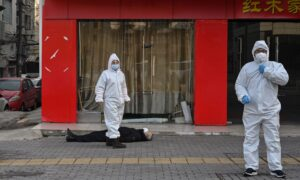 Man Lying Dead on Street Paints Grim Picture of Virus-Stricken City