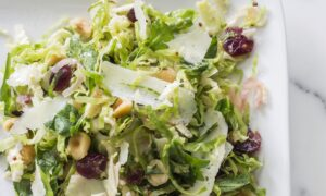 Brussels Sprout Salad With Warm Browned Butter Vinaigrette