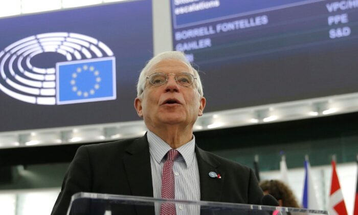 European Union's foreign policy chief Josep Borrell addresses the European Parliament regarding the situation in Iran and Iraq, in Strasbourg, France, on Jan. 14, 2020. (Vincent Kessler/Reuters)