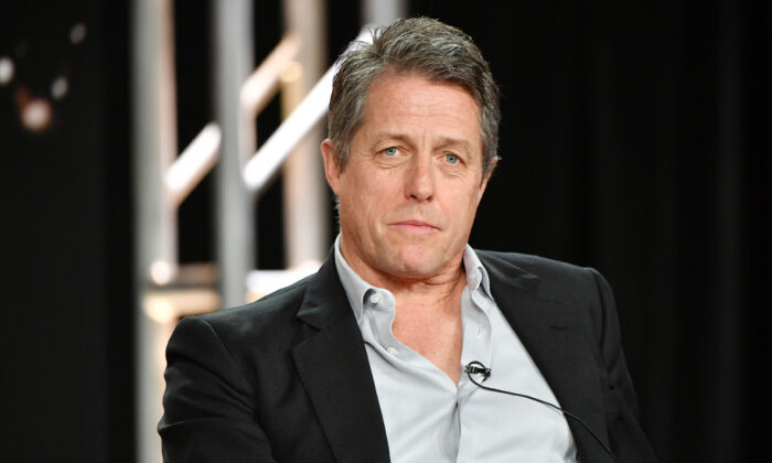 Hugh Grant speaks during the HBO segment of the 2020 Winter TCA Press Tour at The Langham Huntington, in Pasadena, Calif., on Jan. 15, 2020. (Amy Sussman/Getty Images)