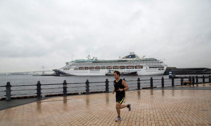 A Princess Cruise ship in Yokohama on July 16, 2019. (Behrouz Mehri/AFP via Getty Images)