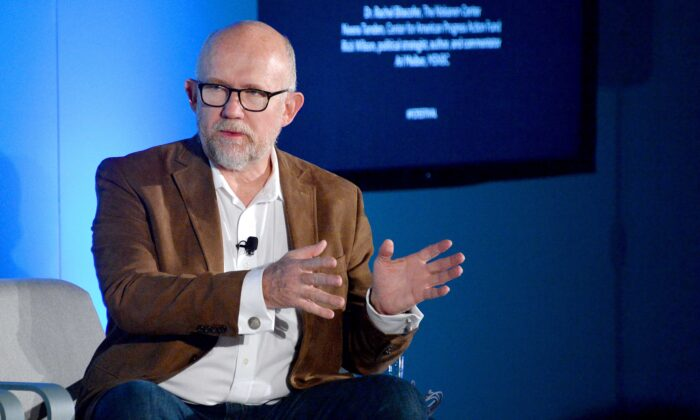 "Rick Wilson speaks on stage at the ""2020 Vision: Political Roundtable"" panel at the Fast Company Innovation Festival in New York City on Nov. 7, 2019.  (Brad Barket/Getty Images for Fast Company)"