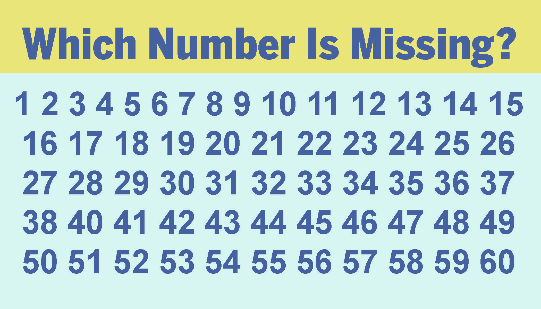 Most people can't spot the missing number in these sequences in under 10 seconds–can you?