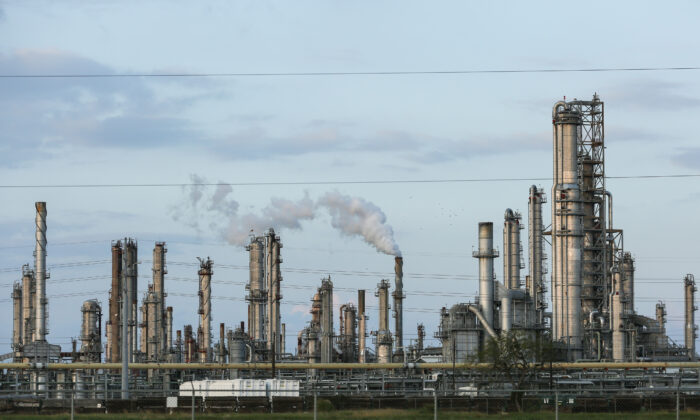 Refineries in Corpus Christi, Texas on Nov. 8, 2018. (Charlotte Cuthbertson/The Epoch Times)