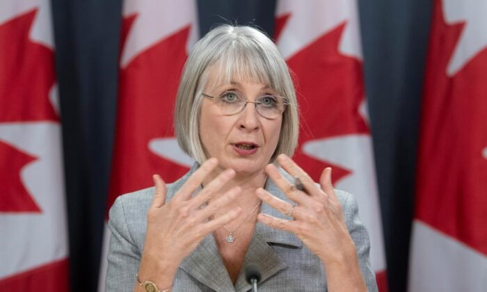 Minister of Health Patty Hajdu responds to a question during an update on the coronavirus situation on Feb. 3, 2020 in Ottawa. (The Canadian Press/Adrian Wyld)