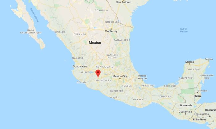 Mexican officials said that nine people were killed, including children, during a shooting at a video game arcade in Michoacan state on Monday. (Google Maps)
