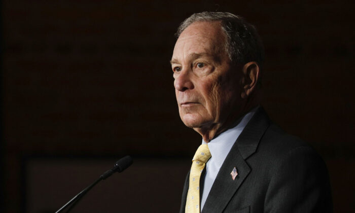 Democratic presidential candidate Mike Bloomberg holds a campaign rally in Detroit, Mich., on Feb. 4, 2020. (Bill Pugliano/Getty Images)