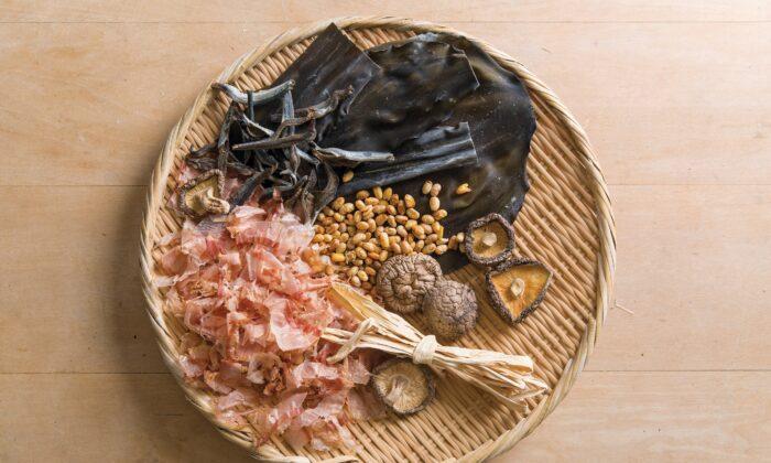 Ingredients for dashi. (Rick Poon)