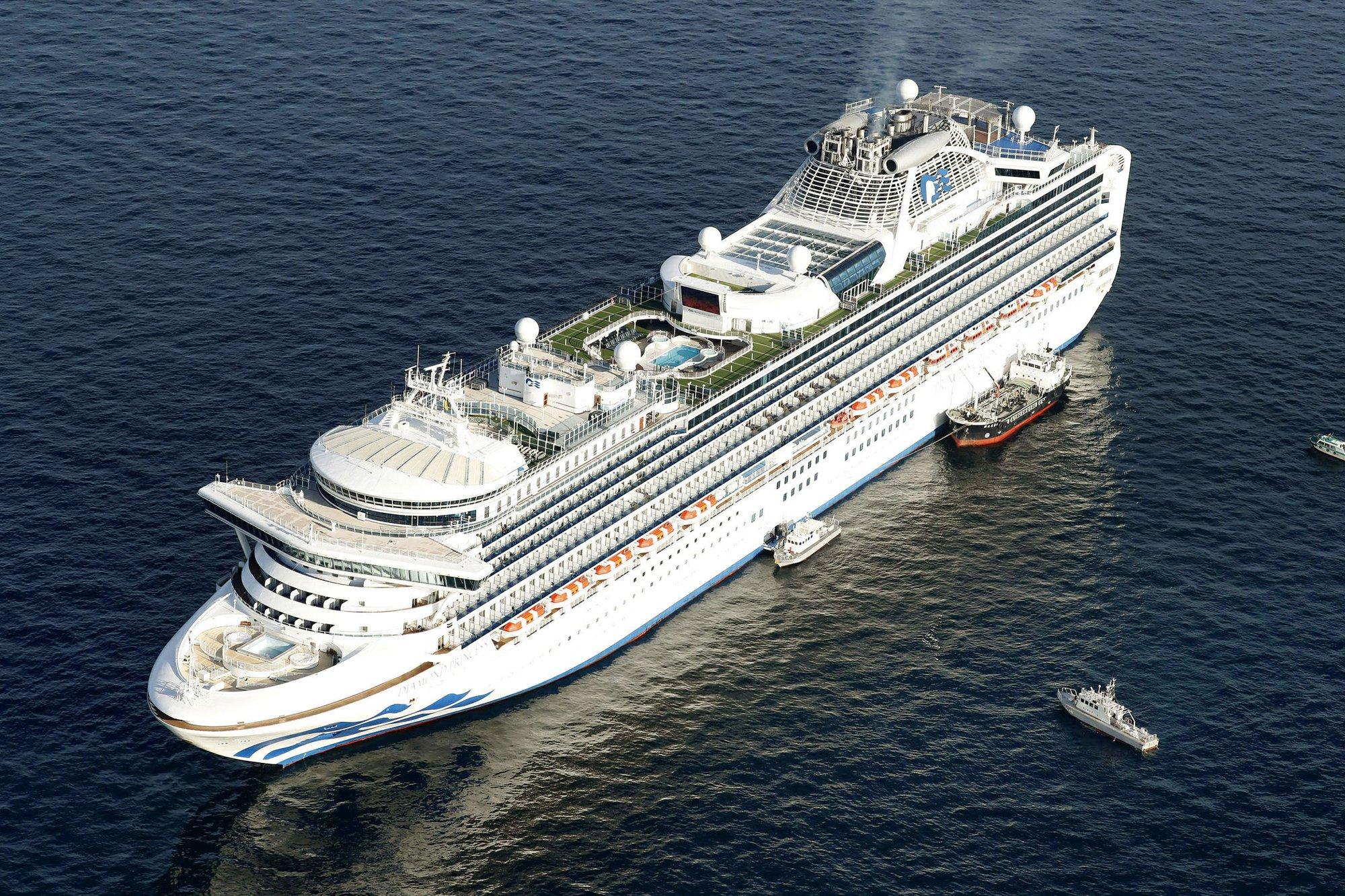 Japan cruiseship quarentined Diamond Princess 1