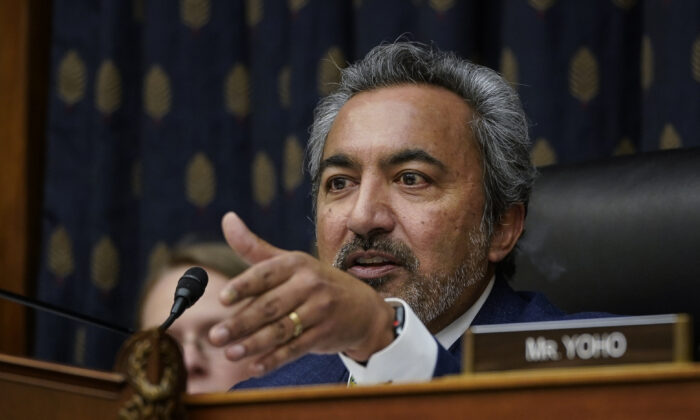 Rep. Ami Bera (D-Calif.) chairs a House Committee on Foreign Affairs Asia and Pacific subcommittee hearing concerning the coronavirus outbreak, in the Rayburn House Office Building on Capitol Hill on Feb. 5, 2020 in Washington. (Drew Angerer/Getty Images)