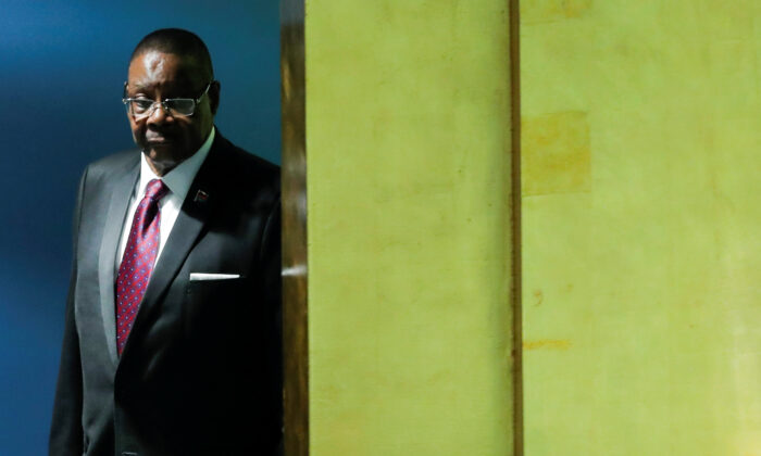 Malawi's President Arthur Peter Mutharika arrives to address the 74th session of the United Nations General Assembly at U.N. headquarters in New York City, New York, U.S., Sept. 26, 2019. (Eduardo Munoz/Reuters)