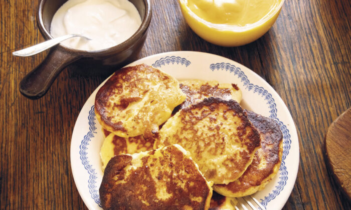 Syrniki, pancakes made with tvorog, a Russian farmers cheese. (Stefan Wettainen)