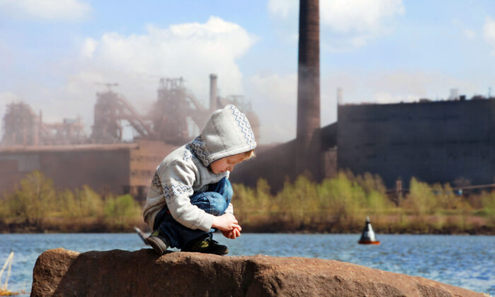 Air pollution has a long-term effect on the neurological development of children, one study found. (Soloviova Liudmyla/Shutterstock)