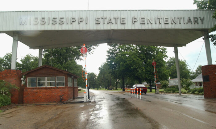The entrance to the Mississippi State Penitentiary at Parchman, Miss., in a file photo. The Justice Department has opened a civil rights investigation into the Mississippi prison system after a string of inmate deaths in the past few months, officials said on Feb. 5, 2020. (Rogelio Solis, File/AP Photo)