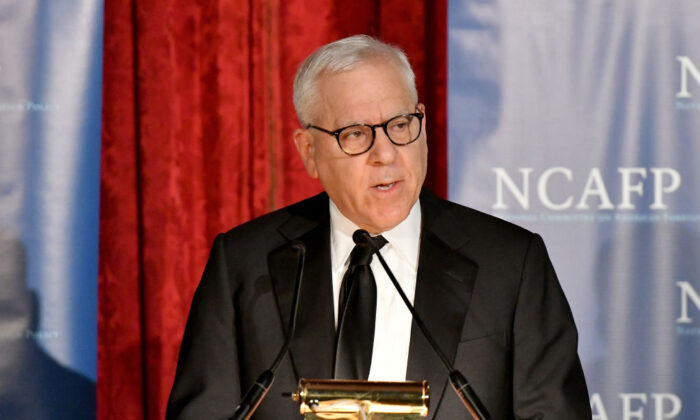 Philanthropist David M. Rubenstein published conversations he had with important historians. Here he is at the National Committee On American Foreign Policy 2017 Gala Awards Dinner in New York on Oct. 30, 2017. (Mike Coppola/Getty Images for National Committee on American Foreign Policy on American Foreign Policy)