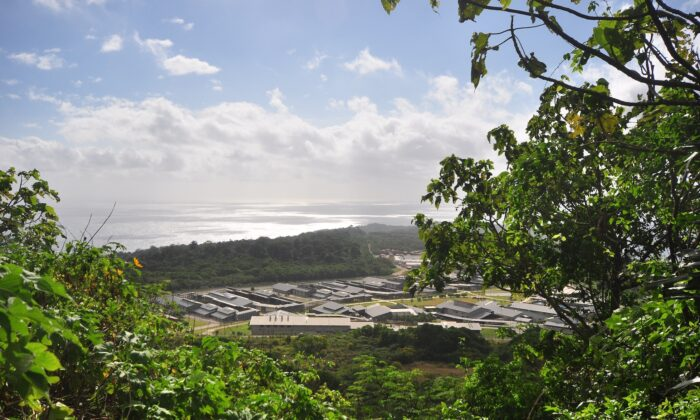 A general view of asylum seekers and facilities at Christmas Island Detention Centre, on Christmas Island on July 26, 2013. (Scott Fisher/Getty Images)