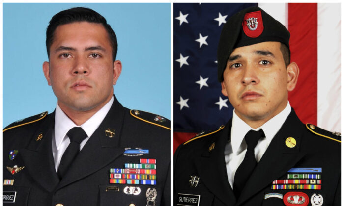 Sgt. 1st Class Antonio R. Rodriguez (L) and Sgt. 1st Class Javier J. Gutierrez (R). (U.S. Army Special Operations Command via AP)