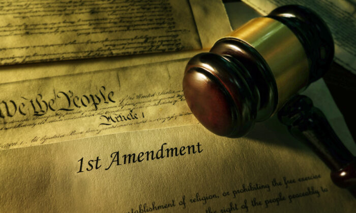 The First Amendment of the Constitution. (Illustration/Shutterstock)