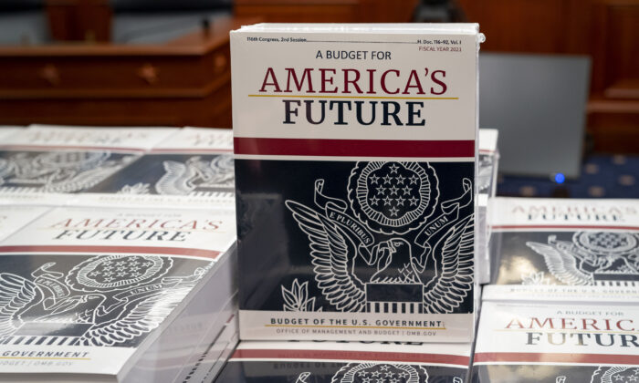 President Donald Trump's budget request for fiscal year 2021 arrives at the House Budget Committee on Capitol Hill in Washington on Feb. 10, 2020.  J. Scott Applewhite/AP Photo