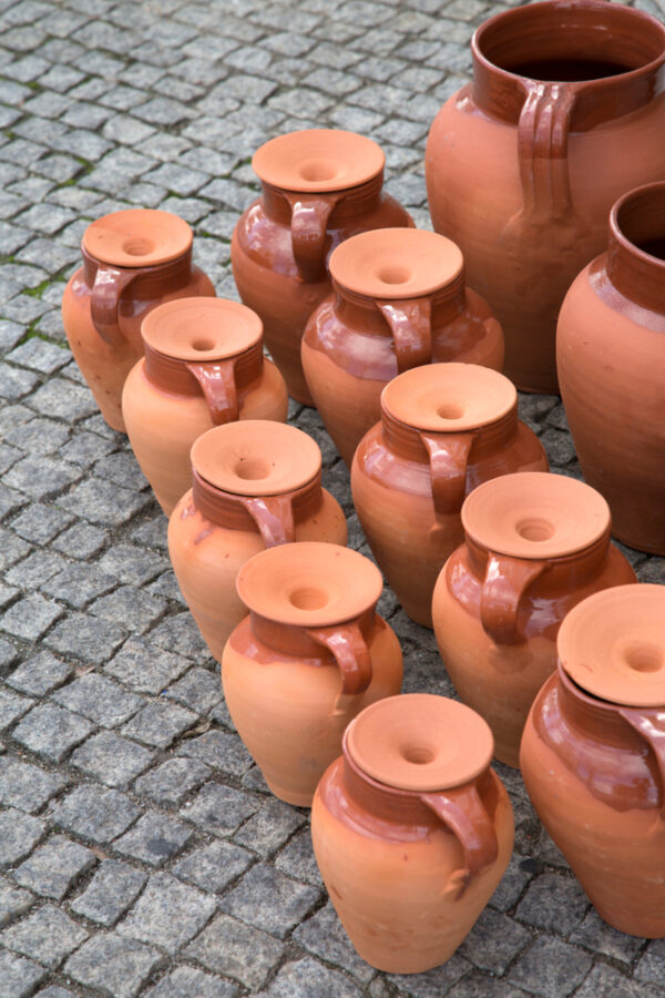 Clay pots in Evora