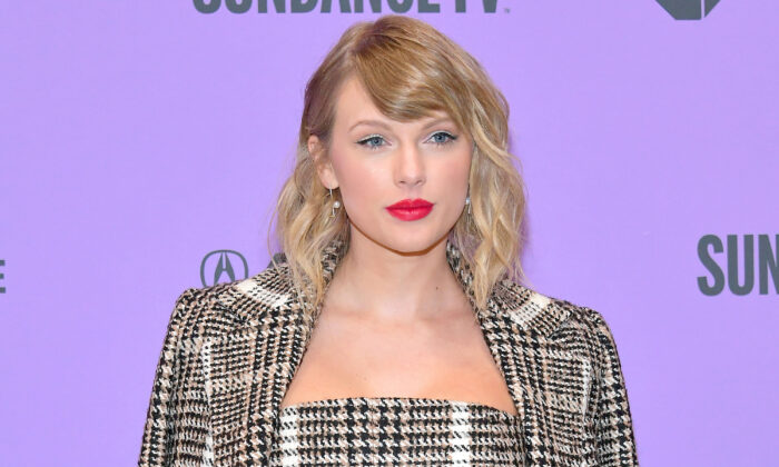 "Taylor Swift attends the 2020 Sundance Film Festival ""Miss Americana"" Premiere at Eccles Center Theatre in Park City, Utah, on Jan. 23, 2020.  Neilson Barnard/Getty Images"