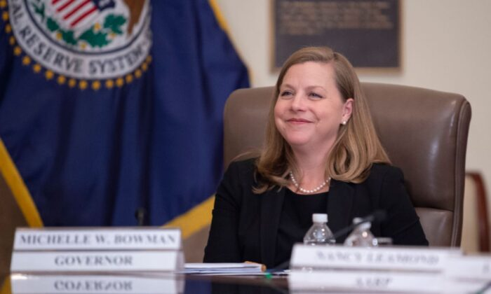 Federal Reserve Governor Michelle Bowman attends an event in Washington on Oct. 4, 2019. (Eric Baradat/AFP/Getty Images)