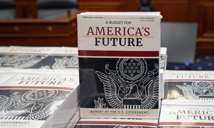 President Donald Trump's budget request for fiscal year 2021 arrives at the House Budget Committee on Capitol Hill in Washington, on Feb. 10, 2020. (J. Scott Applewhite/AP Photo)