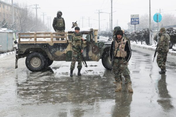 Afghan security forces -suicide attack in Kabul, Afghanistan