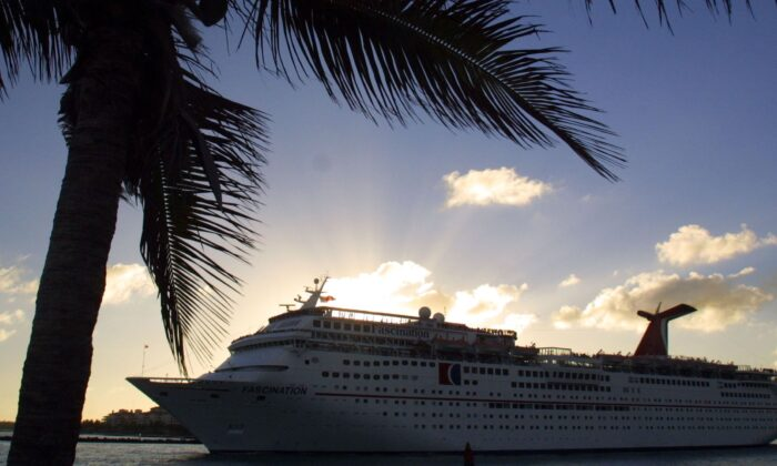 A stock photo shows a cruise ship (Photo by Joe Raedle/Getty Images)