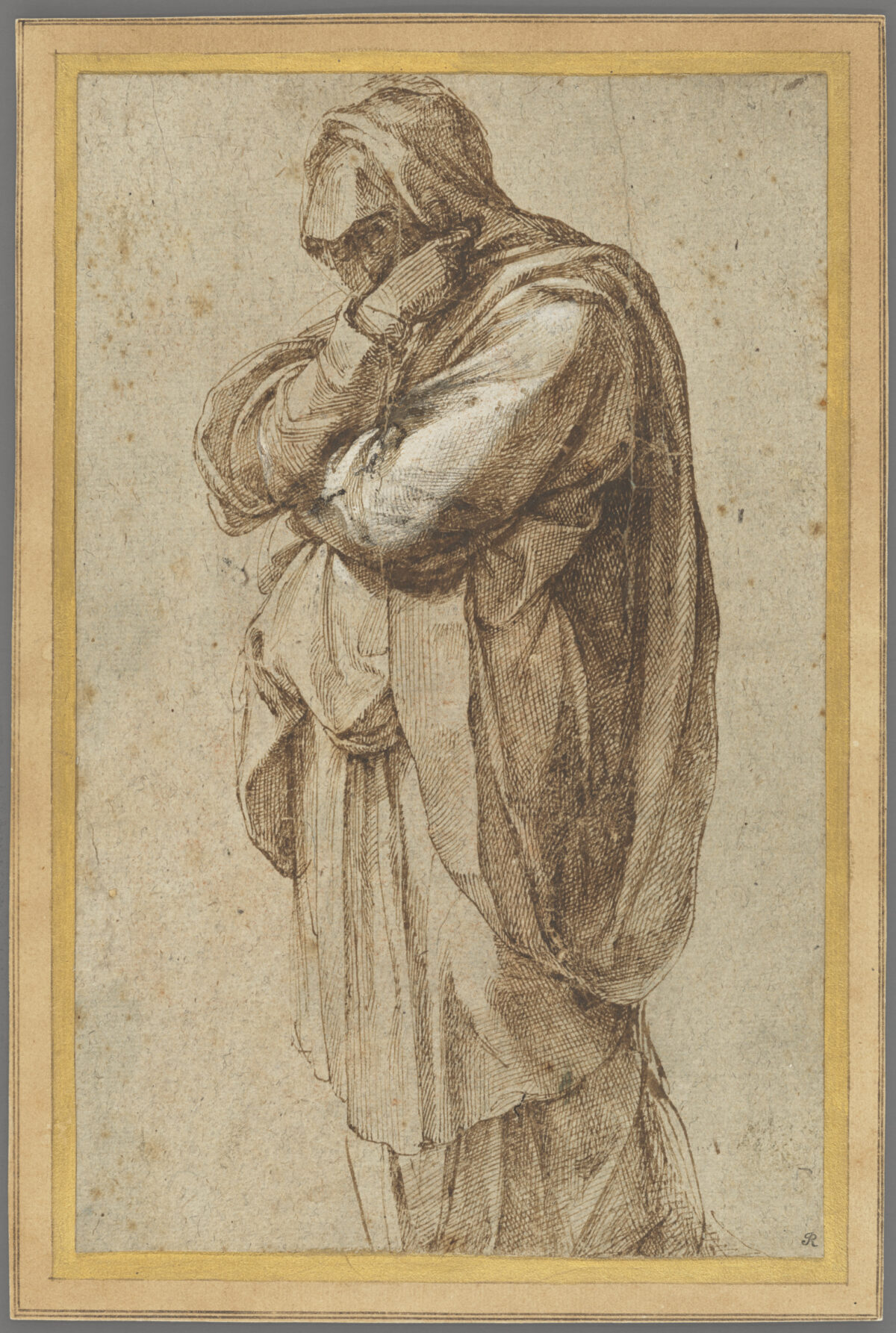 Study of mourning Woman by Michelangelo