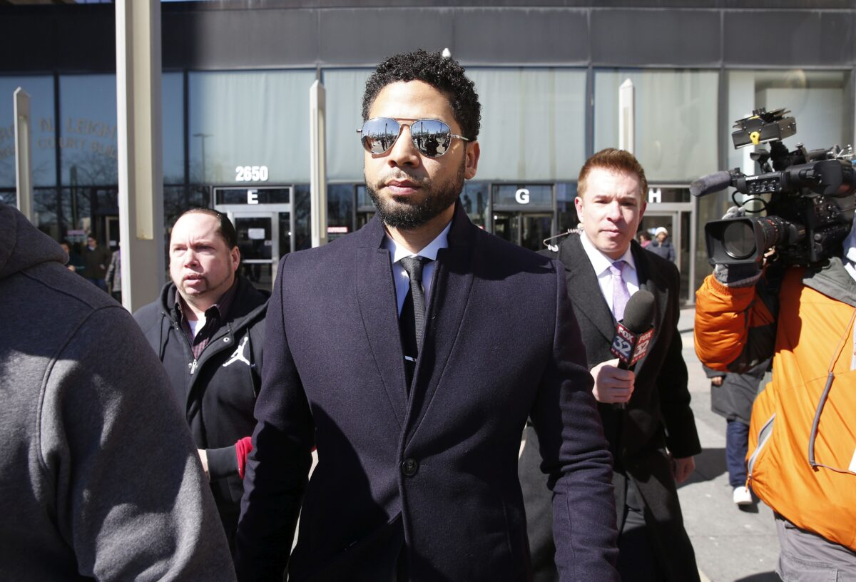 Actor Jussie Smollett leaves the Leighton Courthouse