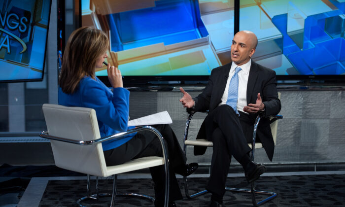 Minneapolis Federal Reserve president Neel Kashkari being interviewed on FOX Business Network on Feb. 17, 2016 in New York City. (D Dipasupil/Getty Images)