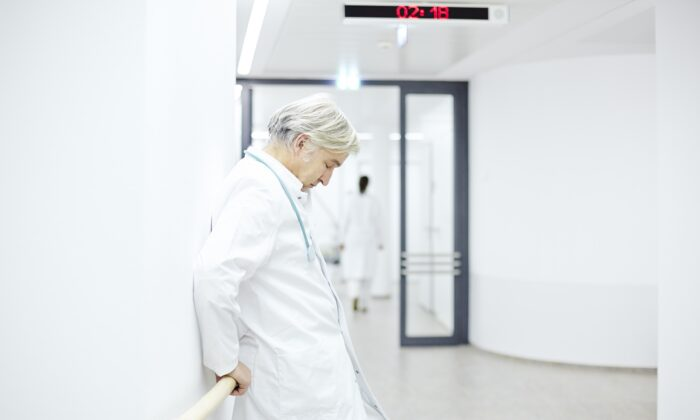 Treating a patient in a few minutes is impossible, but that is what doctors are being asked to do and it is leaving them feeling broken.(upixa/Shutterstock)