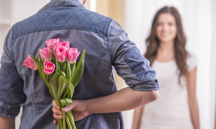 When you arrive home February 13, tell the lady in your life you picked up the flowers a day early, and ask for a vase. Remember: Early, early, early. (Shutterstock)