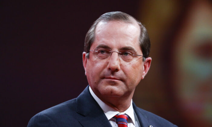 Secretary of Health and Human Services Alex Azar at the CPAC convention in National Harbor, Md., on Feb. 28, 2019. (Samira Bouaou/The Epoch Times)
