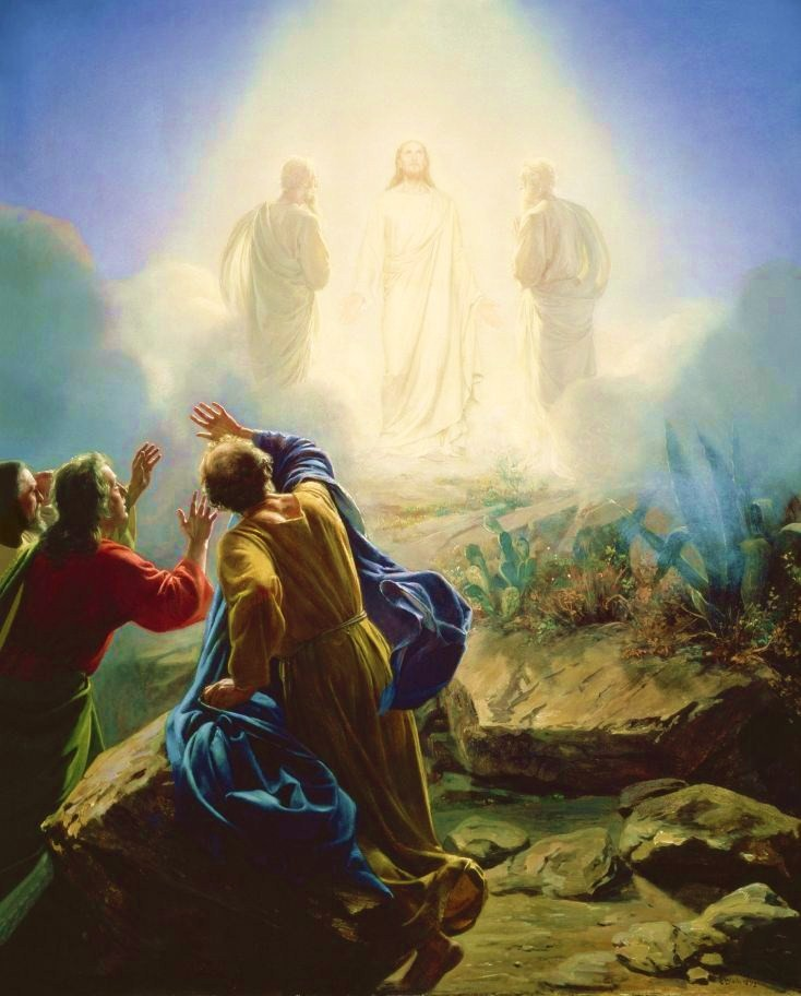 Transfiguration of Jesus by Carl Bloch