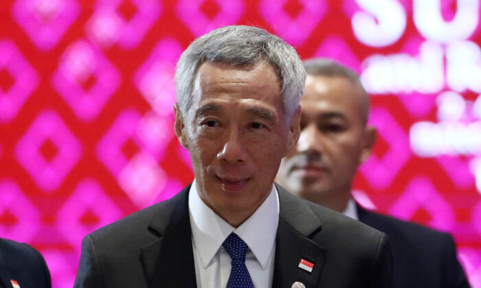 Singapore's Prime Minister Lee Hsien Loong arrives to attend a plenary session at a regional summit in Bangkok, Thailand on Nov. 2, 2019. (Athit Perawongmetha/Reuters)