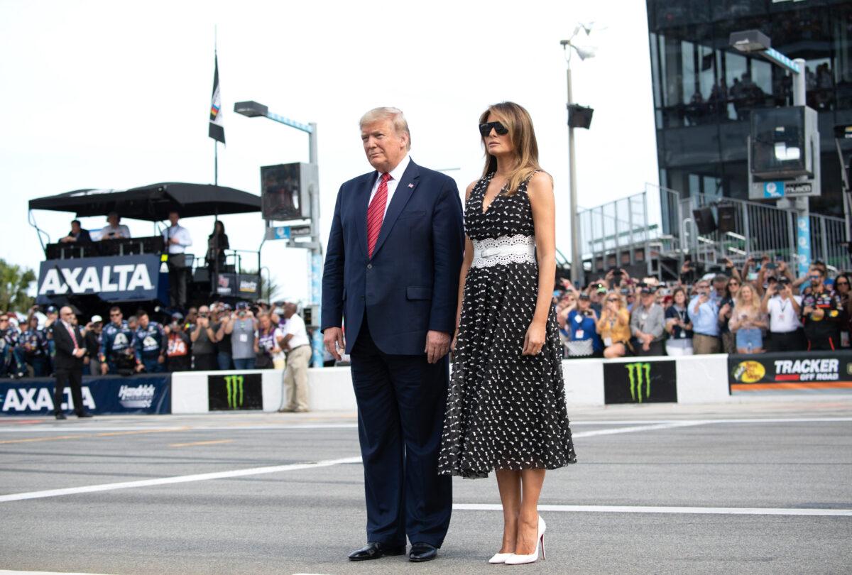 Trump and Melania at Daytona 500