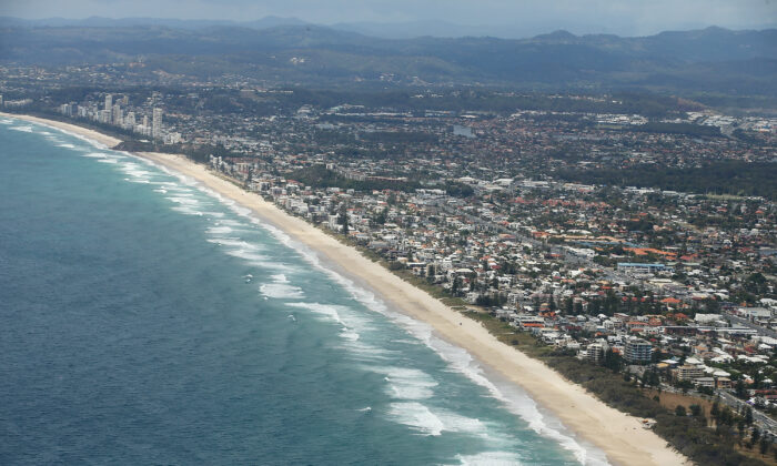 Aerial view of the Gold Coast coastline in Australia on Oct. 22, 2014. (Chris Hyde/Getty Images)